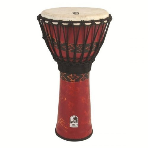 """TOCA DJEMBE FREESTYLE ROPE TUNED 10"""" Bali Red SFDJ-10RP"""