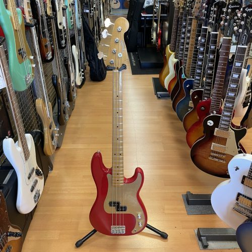 FENDER PRECISION BASS VINTERA '50 DAKOTA RED USATO